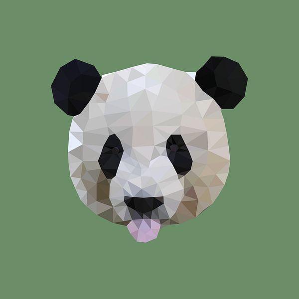 Panda van Low Poly