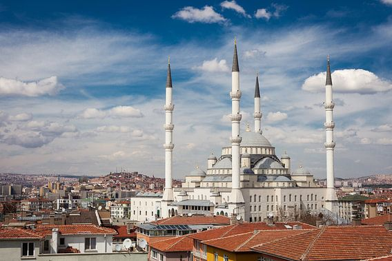 Kocatepe Moskee - Ankara, Turkije van Bart van Eijden