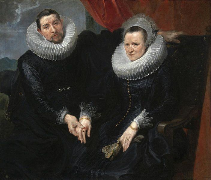 Porträt eines Ehepaares, Antoon van Dyck von Meesterlijcke Meesters