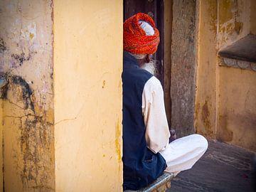 India - Jaipur - De onbekende man