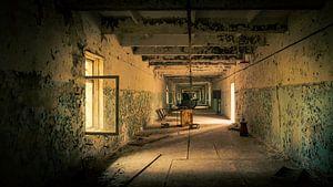 Korridor in der verlassenen Militäranlage DUGA in der Nähe von Tschernobyl