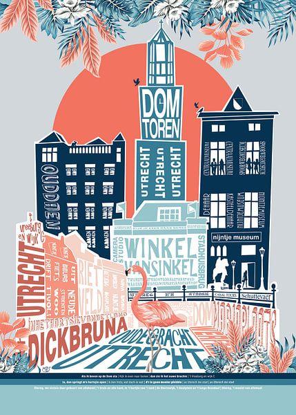 flamingo in the city van Tijmen