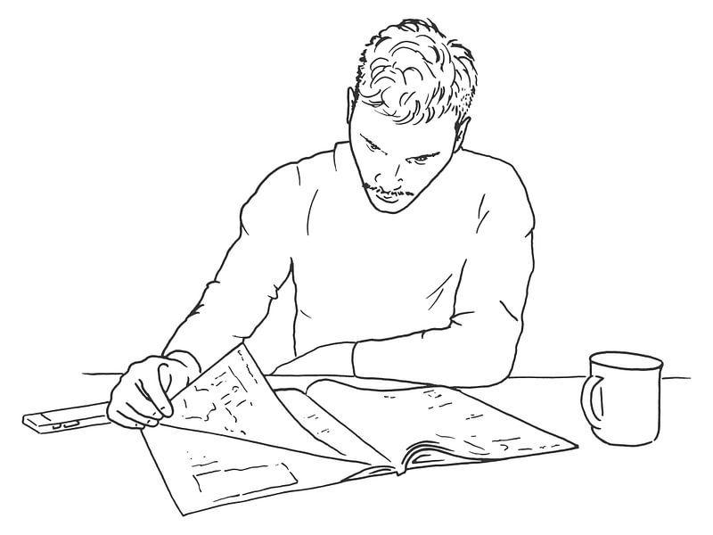 Entspannen Sie sich bei etwas Lesen und einer Tasse Kaffee. von Natalie Bruns