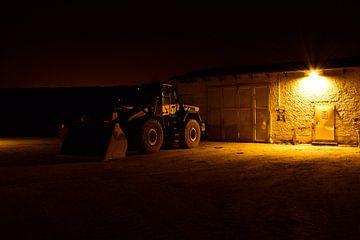 Bagger bei Nacht  von Marcel Ethner