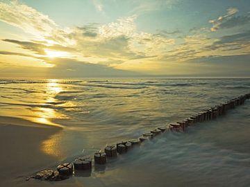 Sonnenuntergang an der Ostseeküste von Katrin May