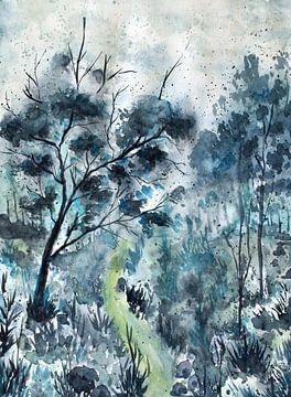 Blauer Wald von ZeichenbloQ