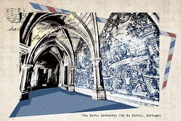 stylische Retro-Postkarte von Porto von Ariadna de Raadt