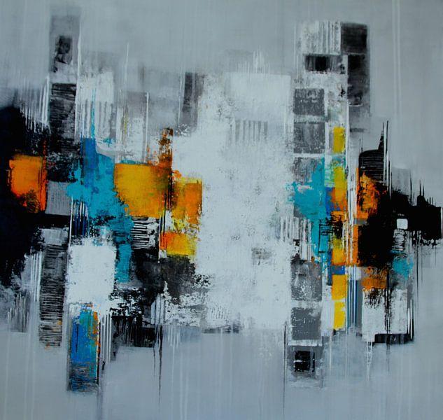 Abstrakt auf Grau von Claudia Neubauer