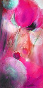 Klaprozen en paardebloemen, roze