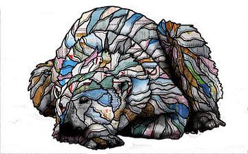 Slapende ijsbeer van Ruud van Koningsbrugge