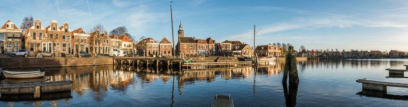 Panorama Blokzijl met haven van Daan Kloeg