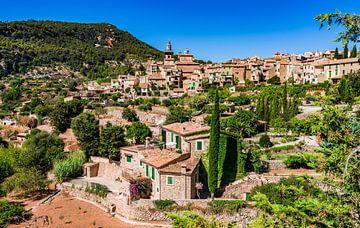 Idyllisch uitzicht op het mediterrane dorp Valldemossa op het eiland Mallorca, Spanje van Alex Winter