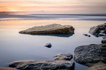 Pastell Strand Sonnenuntergang von Johan Vanbockryck