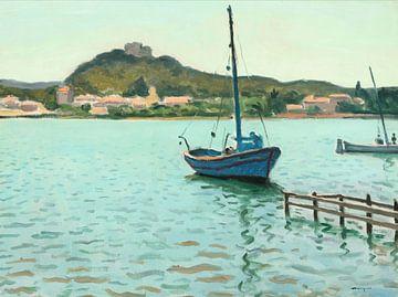 Albert Marquet-Blaues Boot in Porquerolles
