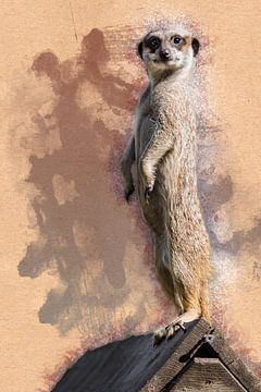 Stand de suricate (œuvre d'art) sur Art by Jeronimo