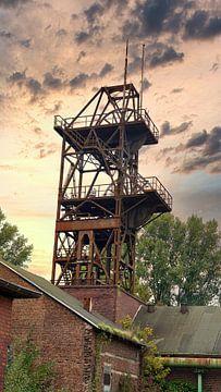 Oude mijntoren in het Ruhrgebied van HGU Foto