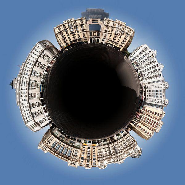 Little Planet Madrid - Gran Via von Panorama Streetline