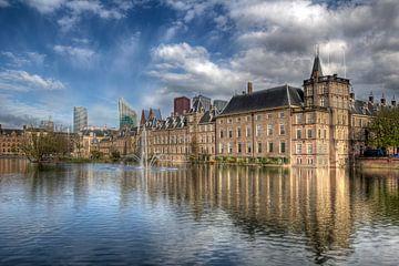 Binnenhof en Hofvijver in Den Haag van