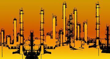 Raffinaderij illustratie van Achim Prill