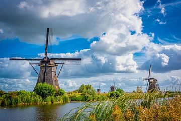 Windmühlen bei Kinderdijk, Niederlande von Rietje Bulthuis