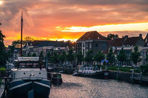 Zwolle Sunset van Thomas Bartelds