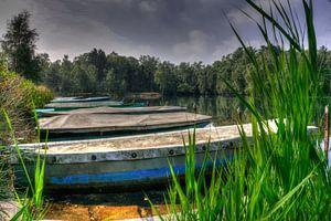 boten liggend in Venekotensee Duitsland van