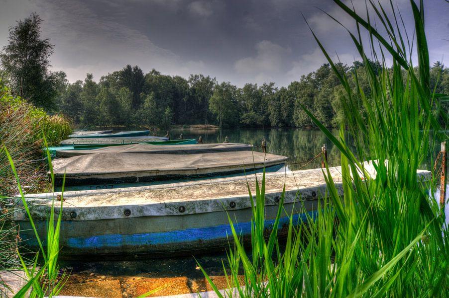 boten liggend in Venekotensee Duitsland