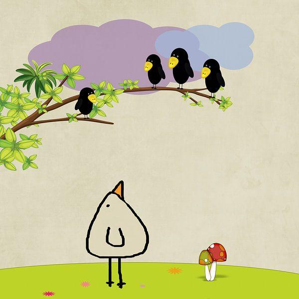 Raven boom, Piepvogel van Marion Tenbergen