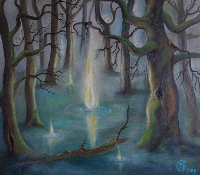 Will-o´-the-WISP in the bog van Dorothy Maurus