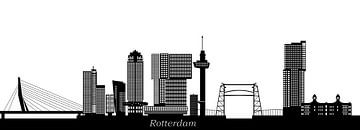 skyline van rotterdam van Compuinfoto .