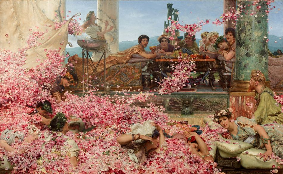 Lawrence Alma Tadema. The Roses of Heliogabalus, 1888 van 1000 Schilderijen