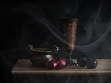 Stilleven keuken met rook