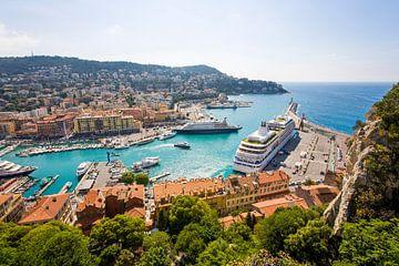 Hafen von Nizza in Frankreich von
