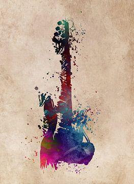 Gitarre 39 Musikkunst #Gitarre #Musik von JBJart Justyna Jaszke