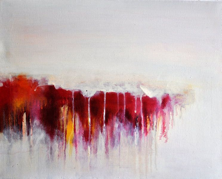Abstract Red Rain van Maria Kitano