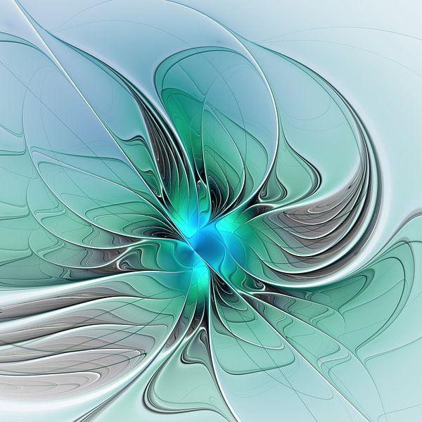 Abstract with Blue van gabiw Art