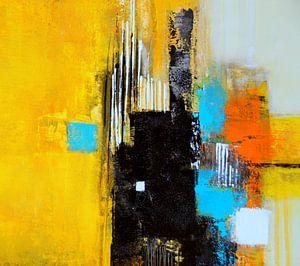 Abstrakt in Gelb von Claudia Neubauer