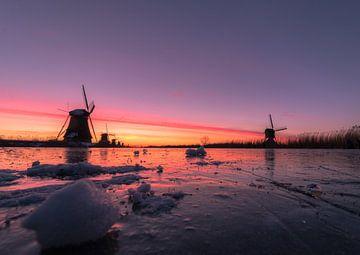 Winter in Kinderdijk van AdV Photography