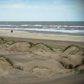 Les dunes au bord de la mer sur Martijn Tilroe