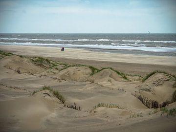 Les dunes au bord de la mer