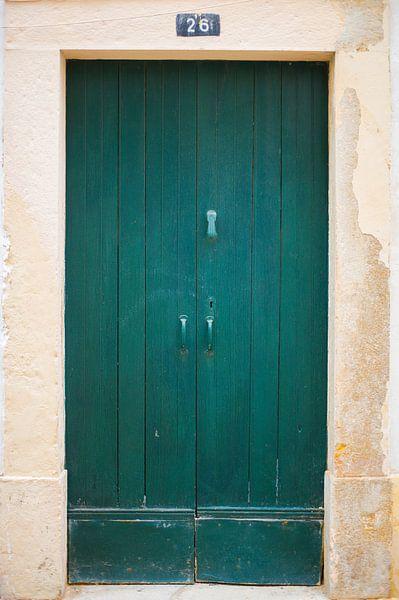 De deuren van Portugal groen nummer 26 van Stefanie de Boer