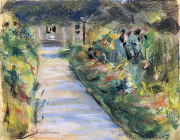 Der Nutzgarten in Wannsee nach Südosten, Berlin, MAX LIEBERMANN, 1924 von Atelier Liesjes