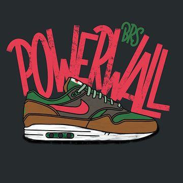 "Nike Air Max 1 ""BRS Powerwall"" von Pim Haring"