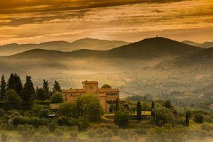 Landschap in Toscane. van