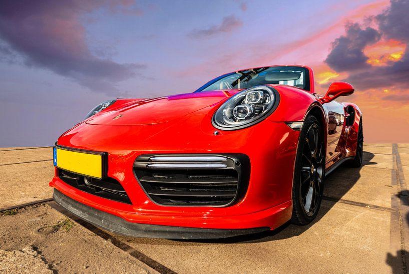 Porsche Rood van Brian Morgan