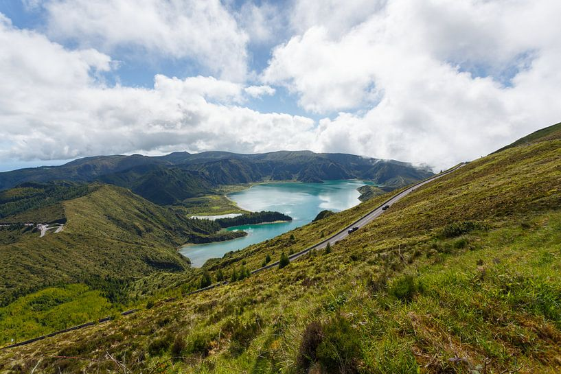 Lagoa do Fogo, Azoren, Portugal van Pieterpb