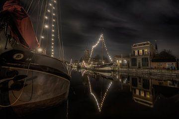 De oude Goudse haven van Eus Driessen