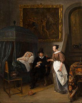 Der Besuch des Arztes, Jan Steen