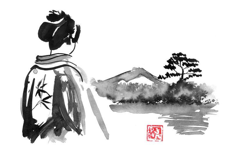 Die Geisha schaut zu von Péchane Sumie