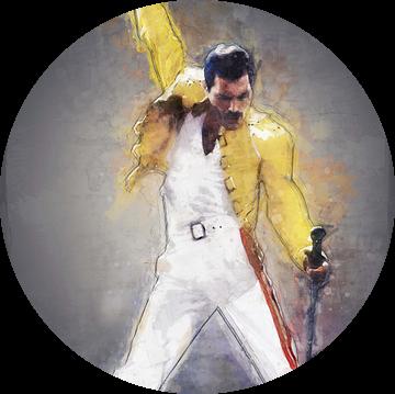 Freddie Mercury olieverf portret van Bert Hooijer
